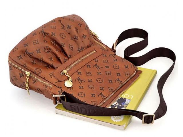 Мужская сумка Louis Vuitton District коричневая - Mega Brands